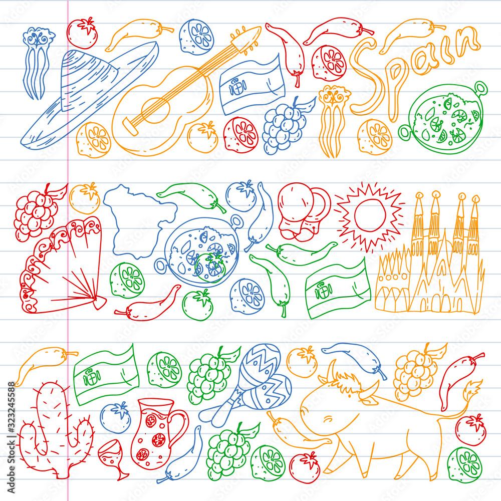 Wektorowe ikony i symbole. Republika Czeska ilustracje do banerów, plakatów, tła. <span>plik: #323245588 | autor: Anastasia</span>