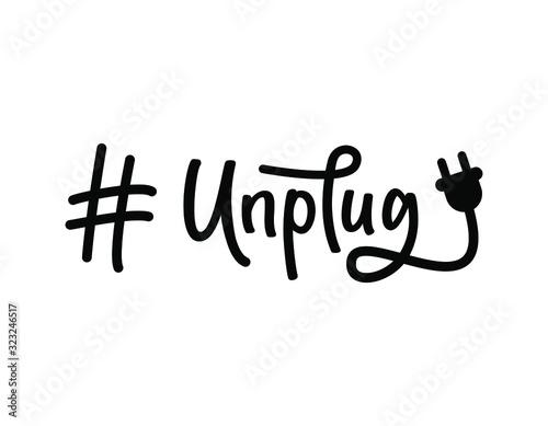 Cuadros en Lienzo Hashtag Unplug