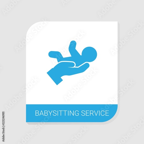 Editable filled babysitting service icon from Services icons category Canvas Print