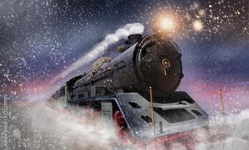 Fotografia Dampflok im Schnee