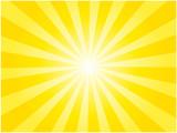 黄色の集中線背景イラスト