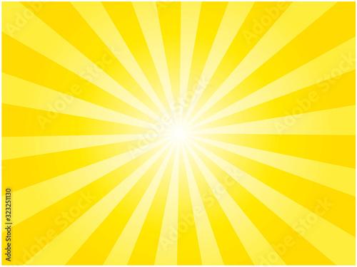 Obraz 黄色の集中線背景イラスト - fototapety do salonu