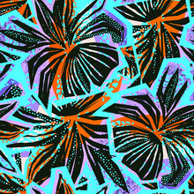 Exotic Seamless Tropical Flowe...