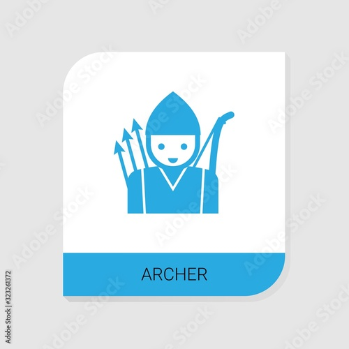 Editable filled archer icon from Gaming icons category Wallpaper Mural