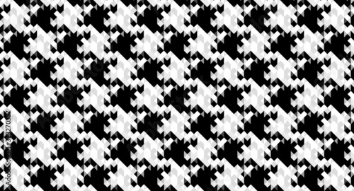 Pixel Houndstooth tile pattern or vector background for decoration wallpaper Wallpaper Mural