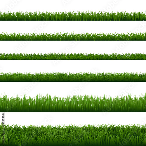 Wallpaper Mural Realistic grass borders