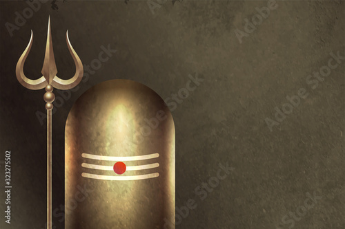 traditional hindu lord shiva shivling background design - 323275502