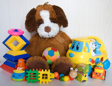 Plush Dog With Different Plast...