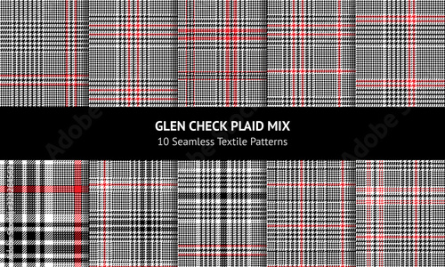 Photo Glen plaid pattern set