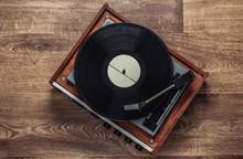 Retro Vinyl Record Player With...