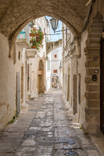 Scenic Sight In Ostuni On A Su...