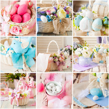 Easter Baskets, Eggs, Decorati...