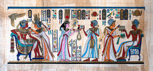 Ancient Egyptian Painting On P...