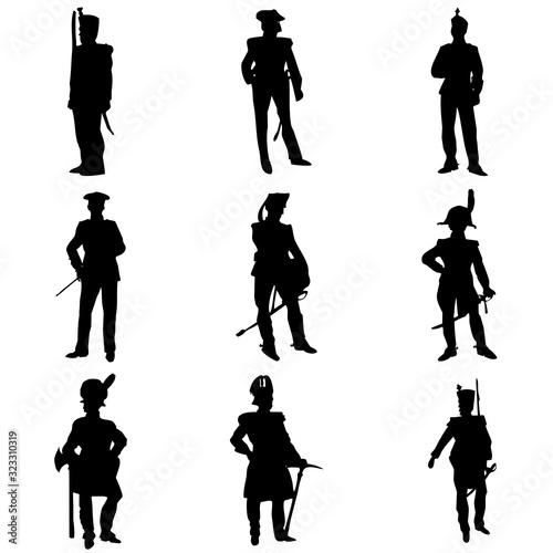 Uniformes militares Fototapet