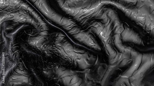 Abstract wave background in black Fototapeta