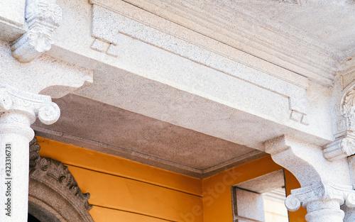 Fototapeta Apartment house residential home architecture in Olbia obraz