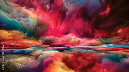 Paradigm of Inner Spectrum Wallpaper Mural