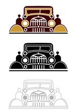 Graphic Of A Vintage Car With ...