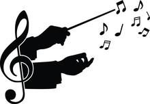 Choir Guide Music, Vector Illu...