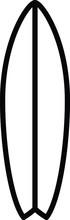 Surfboard Icon, Vector Line Il...