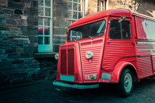 Old Red French Van At Edinburg...