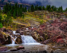 Redrock Falls - Glacier Nation...