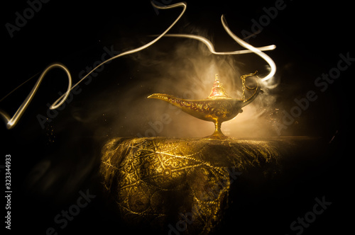 Lamp of wishes concept Canvas Print