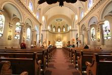Interior Of Catholic Church