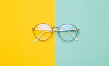 Eye Glasses Isolated On Yellow...