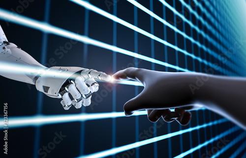 Technology connection concept Canvas Print