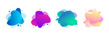 Set Of Abstract Fluid Shape Wi...