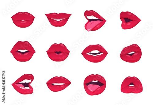 Female lips Fototapeta
