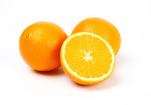 Fresh Egypt Orange Isolated On...