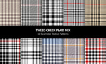 Plaid Pattern Set. Seamless Gl...