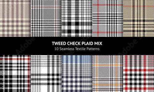 Photo Plaid pattern set