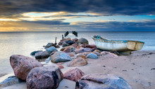 Abandoned Fishing Boat After S...