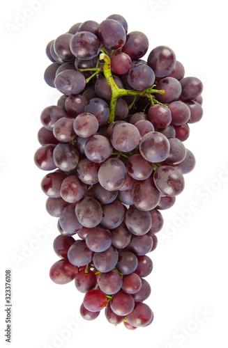 Fresh grape isolated on white background.