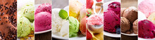 Collage Of Assorted Ice Cream