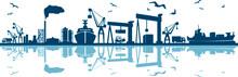 Seaport Skyline Outline Mobili...