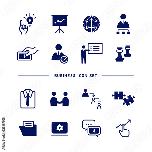 BUSINESS ICON SET Canvas Print