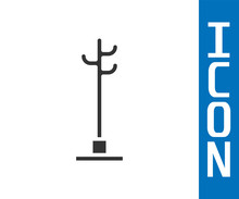 Grey Coat Stand Icon Isolated ...