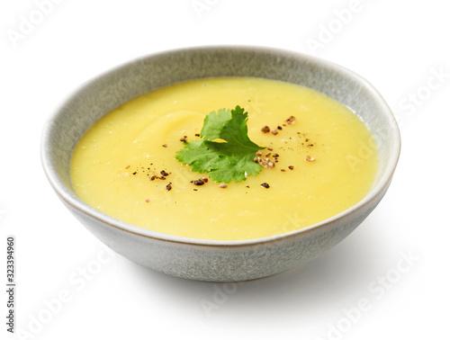 Fototapeta bowl of vegetable cream soup obraz