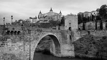 Skyline Of Toledo, Spain In Bl...