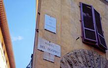 Plazza Del Duomo Street Sign O...