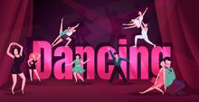 Dance Word Concepts Flat Color...