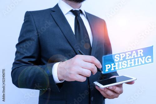 Text sign showing Spear Phishing Fototapeta