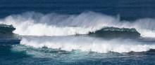 Dramatic Crashing Waves In Tur...