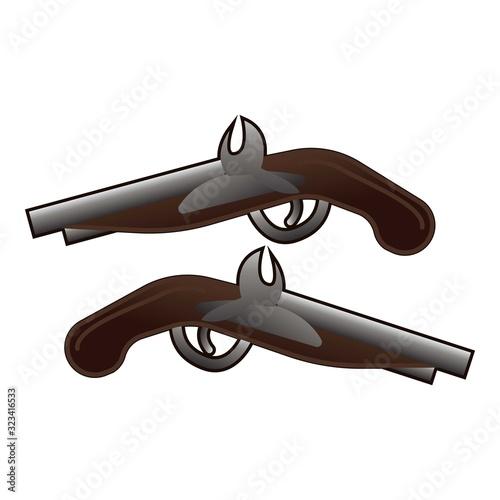 Vászonkép Western pistols icon