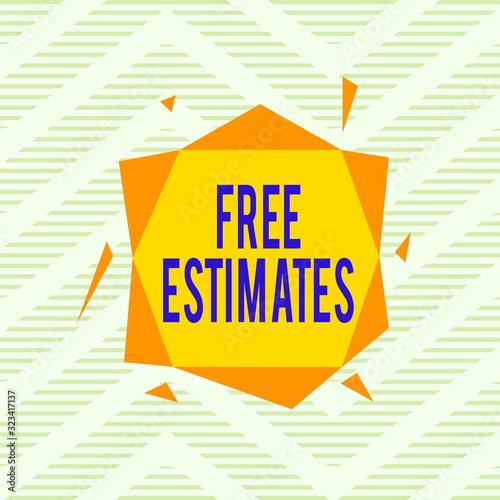 Photo Word writing text Free Estimates