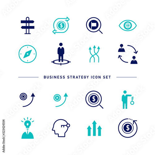 Fototapeta BUSINESS STRATEGY ICON SET